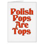 Los estallidos del polaco son tops tarjeta de felicitación