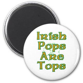 Los estallidos irlandeses son tapas imán redondo 5 cm