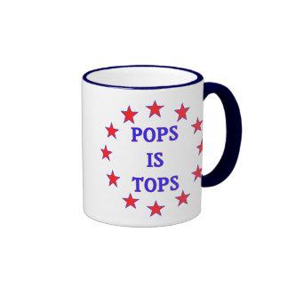 Los estallidos son tops para el papá taza de café