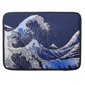 Los estilos modernos de la gran onda de Hokusai Fundas Macbook Pro