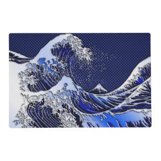 Los estilos modernos de la gran onda de Hokusai Salvamanteles