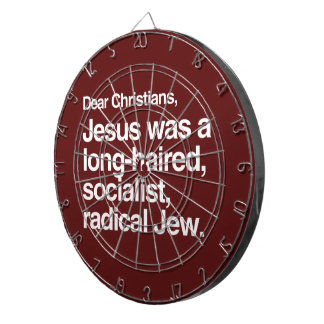 LOS ESTIMADOS CRISTIANOS JESÚS ERAN UN JUDÍO TABLERO DARDOS
