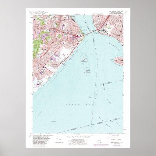 Los estrechos entre Staten Island y Brooklyn nuevo Póster