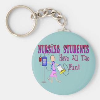 Los estudiantes del oficio de enfermera se diviert llavero redondo tipo pin