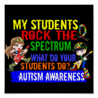 Los estudiantes oscilan el autismo del espectro póster