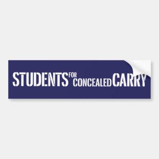 Los estudiantes para encubierto llevan a la pegati pegatina para auto