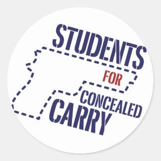 Los estudiantes para encubierto llevan al pegatina