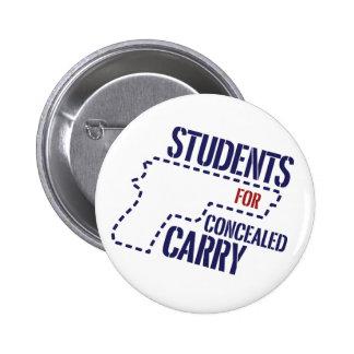 Los estudiantes para encubierto llevan el botón de pin redondo de 2 pulgadas