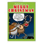 Los éticas de trabajo del navidad tarjetas