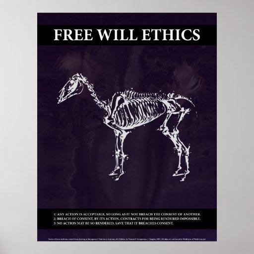Los éticas del libre albedrío póster