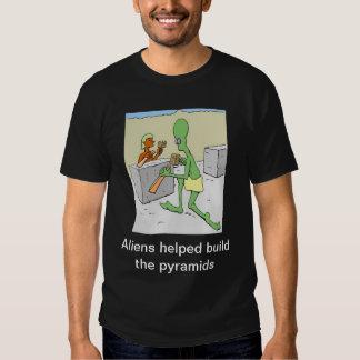 Los extranjeros ayudados construyen las pirámides polera