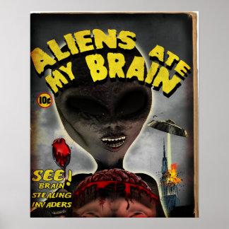 Los extranjeros comieron mi poster del cerebro póster