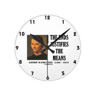 Los extremos de Maquiavelo justifican la cita de Reloj Redondo Mediano