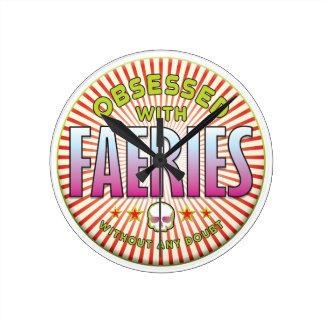 Los Faeries obsesionaron R Relojes De Pared