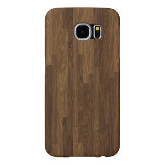 Los falsos paneles de la madera dura de Brown Fundas Samsung Galaxy S6