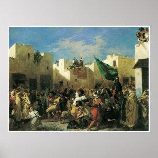 Los fanáticos de Tánger, 1838 Póster