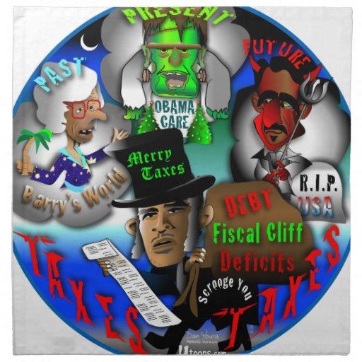 Los fantasmas de Obama del navidad Servilleta