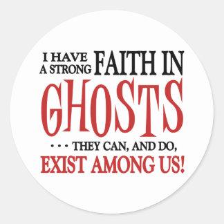 Los fantasmas existen pegatina redonda