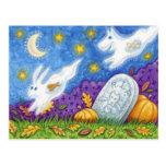 los fantasmas lindos del conejito del perro persig tarjetas postales