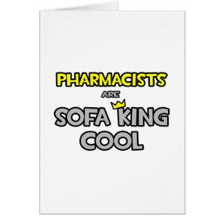 Los farmacéuticos son rey Cool del sofá Felicitacion
