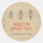 Los favores de la fiesta de cumpleaños de los etiqueta redonda