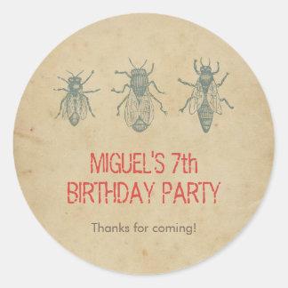 Los favores de la fiesta de cumpleaños de los pegatina redonda