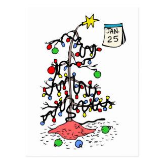 Los Felices Navidad tardíos Postal-Ven la detrás-D Postal