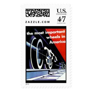 Los Ferrocarriles-Más importantes ruedan adentro Timbres Postales