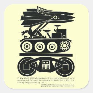 Los ferrocarriles movieron el 90% de toda la carga pegatina cuadrada