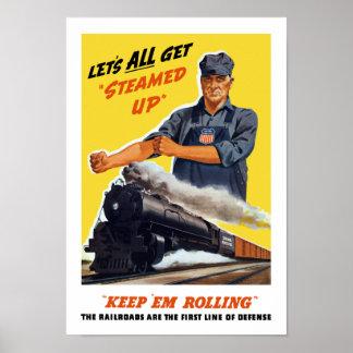 Los ferrocarriles son la primera línea de defensa póster