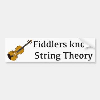 Los Fiddlers saben la teoría de la secuencia para  Etiqueta De Parachoque