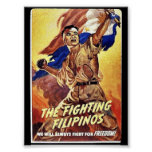 Los filipinos que luchan poster
