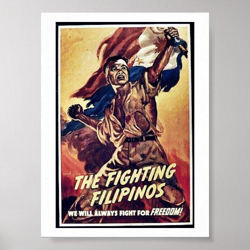Los filipinos que luchan posters