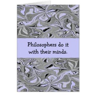 Los filósofos bromea tarjeta de felicitación