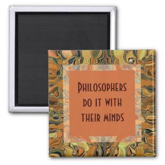 Los filósofos humor imán cuadrado