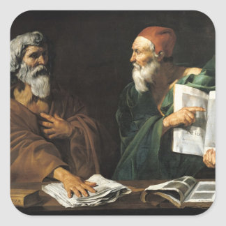 Los filósofos pegatina cuadrada