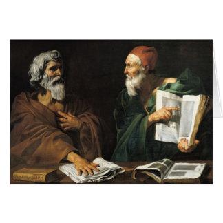 Los filósofos tarjeta de felicitación