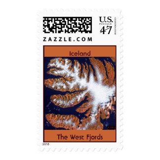 Los fiordos del oeste timbres postales