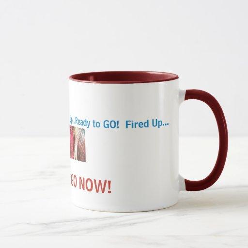 ¡los fireworkcolors, encendidos para arriba… taza
