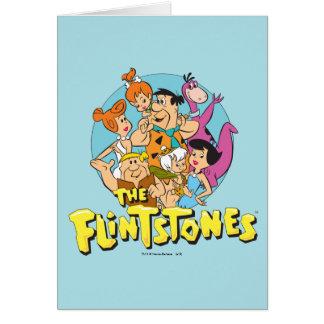 Los Flintstones y el gráfico de la familia de los Tarjeta De Felicitación