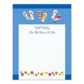 """Los flips-flopes manan tarjeta nupcial de la ducha invitación 4.25"""" x 5.5"""""""