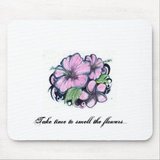 Los Flor-Tatuajes, tardan tiempo para oler las flo Mousepad