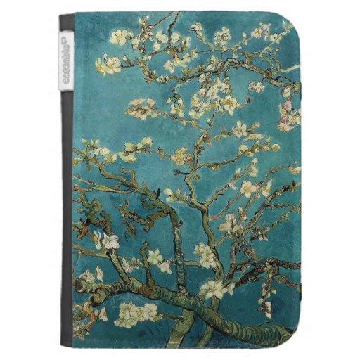 Los flores de la almendra encienden el folio