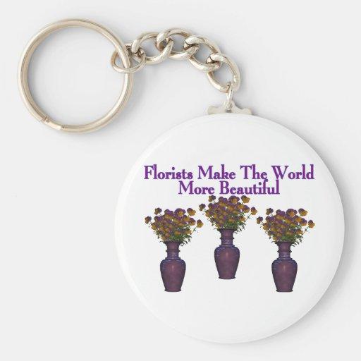 Los floristas embellecen el mundo llavero personalizado