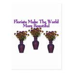 Los floristas embellecen el mundo postal