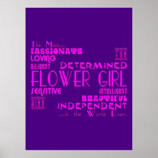 Los floristas le agradecen los favores del boda: C Poster
