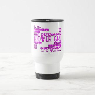 Los floristas le agradecen los favores del boda: taza térmica