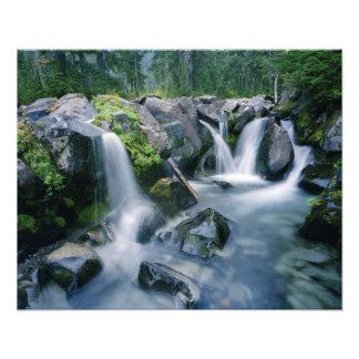 Los flujos de la cala del paraíso abajo se inclina fotografia