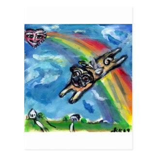 Los flys del ángel del barro amasado liberan postal