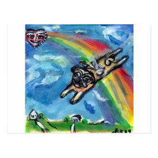 Los flys del ángel del barro amasado liberan postales